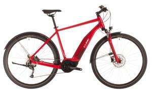 Elektro bicykel Cube Nature Hybrid One Allroad 500 red 2020